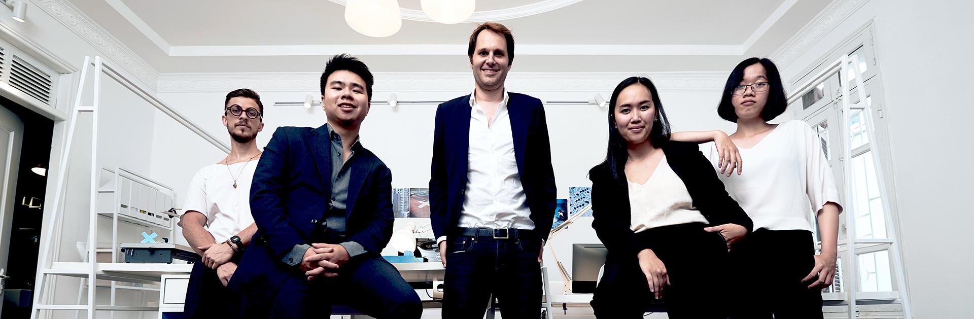 multiply office team_Julien Boulay, Quang Anh Ha, Nicolas Moser, Hamy Pham, Khanh Duong