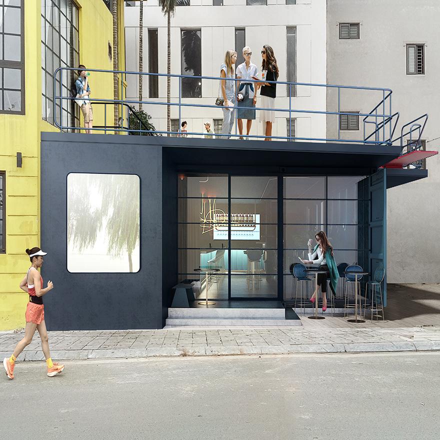 hanoi, westlake, syse, tapas bar, architecture, container