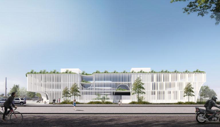 facade, green facade, green building, office building, smart design